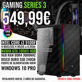 PC GAMING  I3 9100 GTX 1050TI 4GB 8GB RA - foto