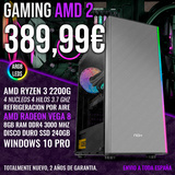 Pc gaming ryzen 3 2200g vega 8 8gb 240gb - foto