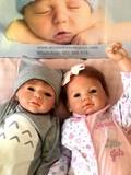 2 bebes reborns 2.2kg 55cm lucas-rebeca - foto