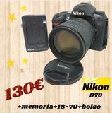 cámara réflex nikon D70 - foto