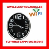 c  Reloj de Pared Camara Espia HD Wifi - foto