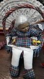Cesto costura con muñeca reborn.abuela . - foto