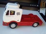 Camión de scalextric exin  blanco y rojo - foto
