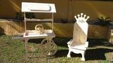 trono y carrito Candy Crush - foto