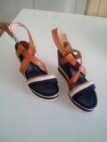 4 pares zapatos tacon cuña y fino salon - foto