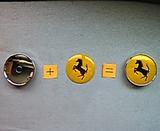 1 Tapabuje llanta Ferrari amarillo 60mm - foto