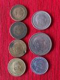 una peseta 1947 y mas monedas - foto