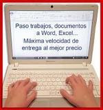 Paso documentos,manuscritos a ordenador - foto