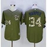 CAMISETA BEISBOL MLB NATIONALS MILITAR - foto