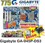 Combo 775 placa gigabyte + e8500 + venti - foto