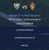 Malaga cf. vs Zaragoza - foto