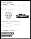 Mercedes Benz juego completo de ruedas - foto