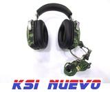 Auriculares militares con microfono - foto