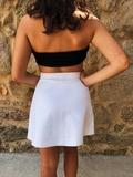 faldas polipiel color blanco y beige - foto