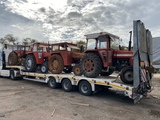 transporte maquinaria agrícola remolque - foto