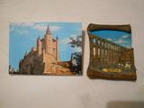 10 postales y figura,recuerdo de segovia - foto