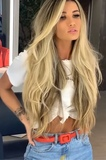cabello rubio personalizado loiro remy - foto