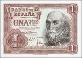 Billetes de pesetas antiguos - foto