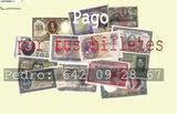 Cogemos Billetes antiguos Pregunte el pr - foto