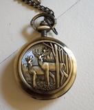 Reloj de bolsillo Ciervos bosque - foto