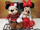 Pareja peluches navidad  Mickey y Minnie - foto