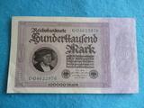 Alemania, Billete 100000 marcos 1923 - foto