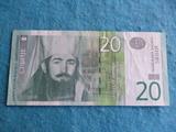 Serbia, Billete 20 dinares 2013 - foto