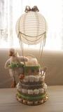 Tarta de pañales elegante/personalizada - foto