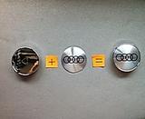 Tapabujes llantas Audi gris negro 60mm - foto