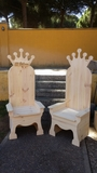 se hacen a mano tronos - foto