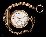 magnifico reloj de bolsillo oro 14k - foto