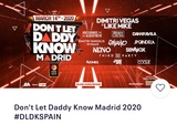 Entradas Dont Let Daddy know MADRID 2020 - foto