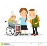 Señora cuidadora de ancianos con experie - foto