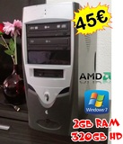 torre amd 3000+ 1.8  2gb ram 320hd  w7 - foto