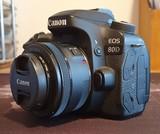 Canon EOS 80D + Baterias + Objetivo 50 m - foto
