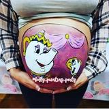 Belly painting Disney - foto