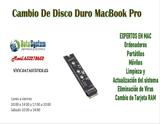 Cambio de disco duro Macbook Pro - foto
