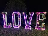 Letras con luces para bodas - foto