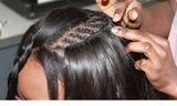 peinados con extenciones de cabello - foto
