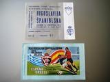 2 entradas selección futbol españa,1973 - foto