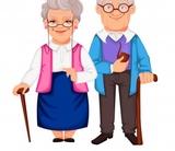 Cuidadora personas mayores. - foto