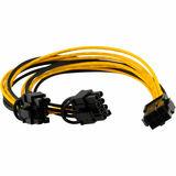 Cable grafica pci express 2x 6+2 pin - foto