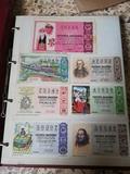 colección de boletos de lotería - foto
