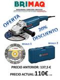 Amoladora Bosch GW20/230 radial de corte - foto