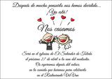 Invitaciones de boda con corazones - foto