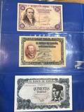 Billetes antiguos españoles - foto