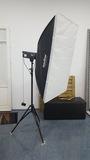flash estudio 800w + ventana + pie - foto