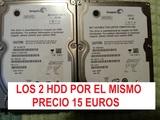 2 discos duros 40 y 60 gb sata 2,5 pulg - foto