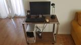 Ordenador mesa lampara teclado raton y m - foto