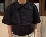 Camisa manga corta azul - foto